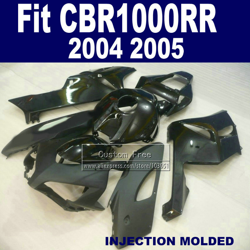 Custom 100% fit Injection fairings kit for Honda CBR1000RR 2004 2005 CBR 1000 RR CBR1000 RR 04 05 full black fairing body parts aftermarket injection mold custom design givi fairing body kit for 04 05 cbr1000rr cbr 1000 rr 2004 2005