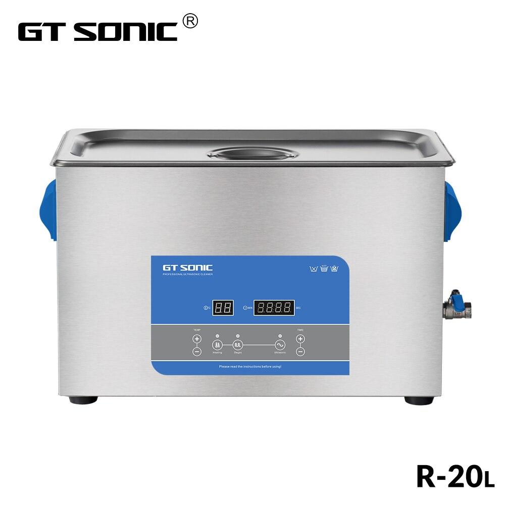 GTSONIC R20 ultradźwiękowy środek czyszczący 20L 400W z wyświetlacz cyfrowy ogrzewanie Degas kosz kąpiel ultradźwiękowa w Myjki ultradźwiękowe od AGD na  Grupa 1