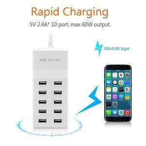 Image 3 - Powstro 10 USB Ladegerät Station Splitter 60W Handy Ladegerät HUB Smart IC Ladung Universal für iPhone Samsung Mp3 tablet Etc