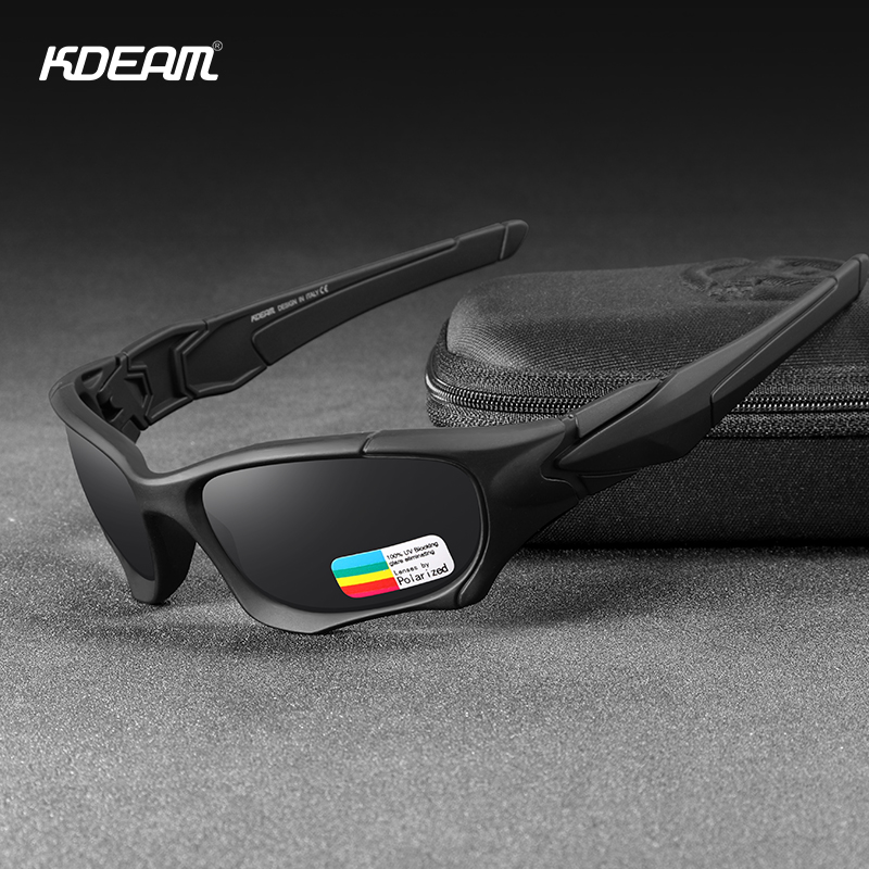 KDEAM Outdoor Sports Polarized Sunglasses Men Curve Cutting Frame Stress-Resistant Lens Shield Sun Glasses Women KD0623