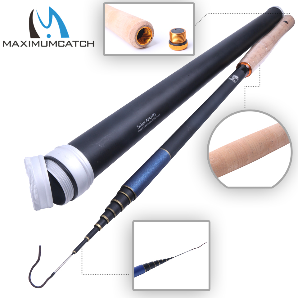Maximumcatch Nano Japanese Carbon Fiber Fly Fishing Rod 12/13FT 7:3 Action 8/9Segments Fishing Tackle Tenkara Fly Rod