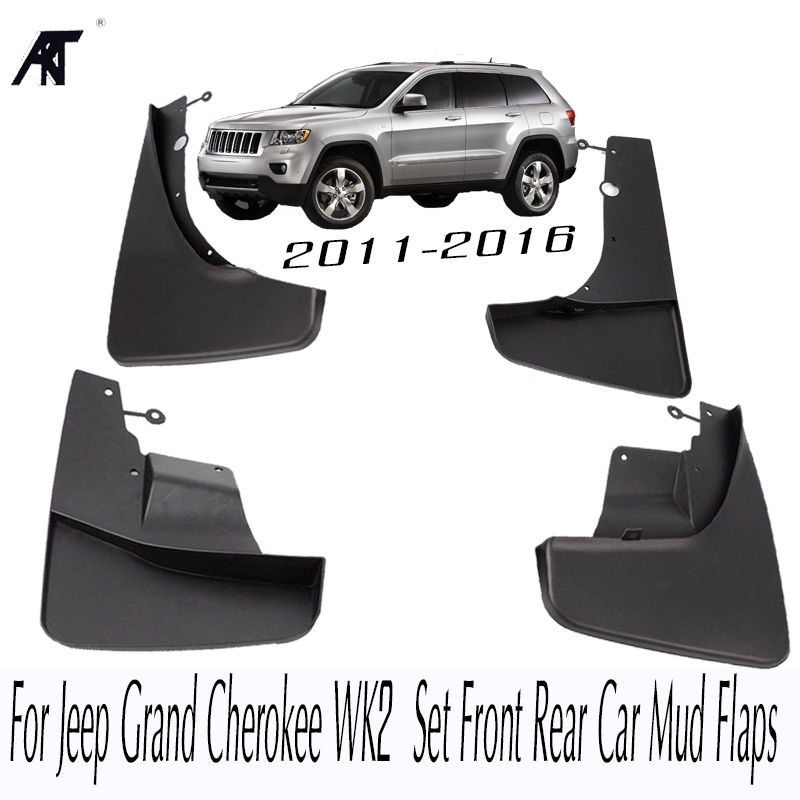 Mudflaps For Jeep Grand Cherokee WK2 2011-2016 Set Front Rear Car Mud Flaps Splash Guards Mud Flap Mudguards 2012 2013 2014 201