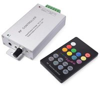 18 Keys Sound Sensor RF Remote DC 12V 24V,12A Music Activated Controller RF Controller LED controller for SMD5050 3528