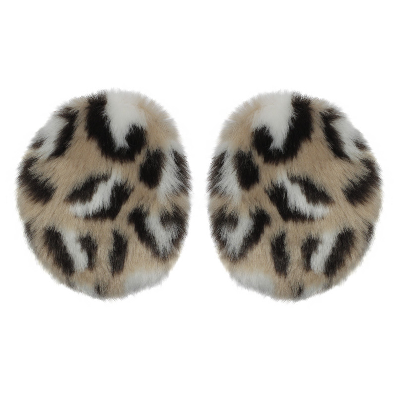 Kenmont Free Shipping Women Girl Lady Winter Deep Leopard Grain Earmuffs Earflap Ear Warmer without Hair Band KM-3954 S,M
