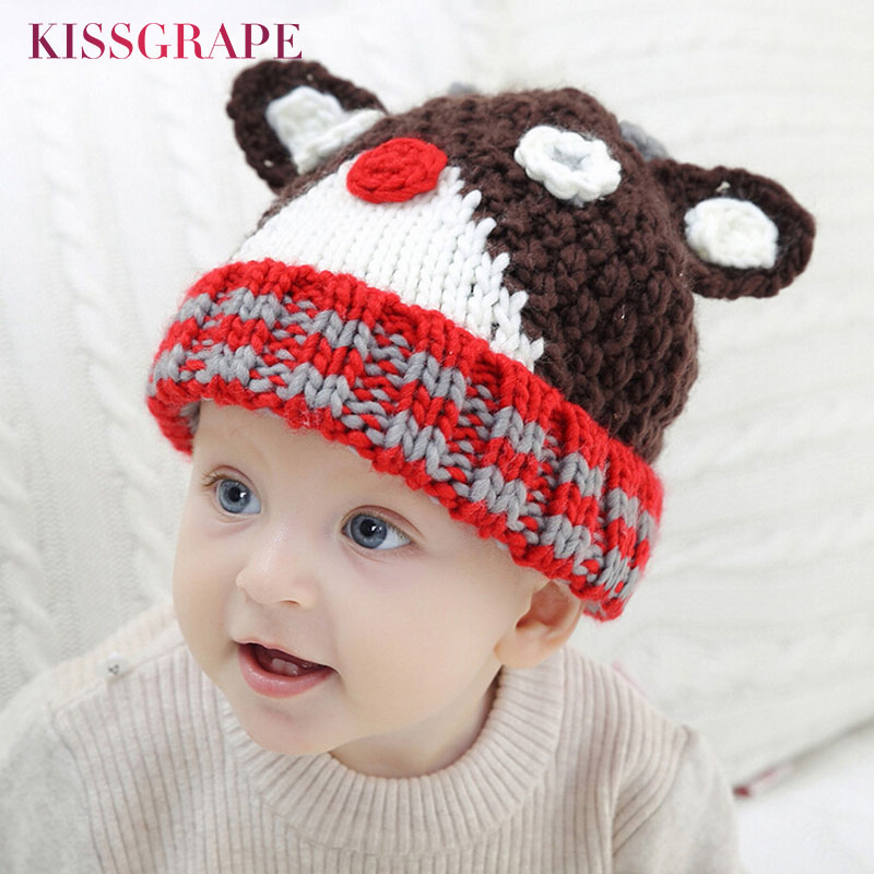 88c00cbb3dce1 Baby   Toddler Clothing Cute Christmas Baby Beanie For Boys Girls Cap  Cotton Hat Children Deer Hats