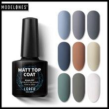 Modelones 10ML Matte Top Coat UV Nail Gel Varnish Effect Art Manicure Soak Off Long Lasting DIY Polish