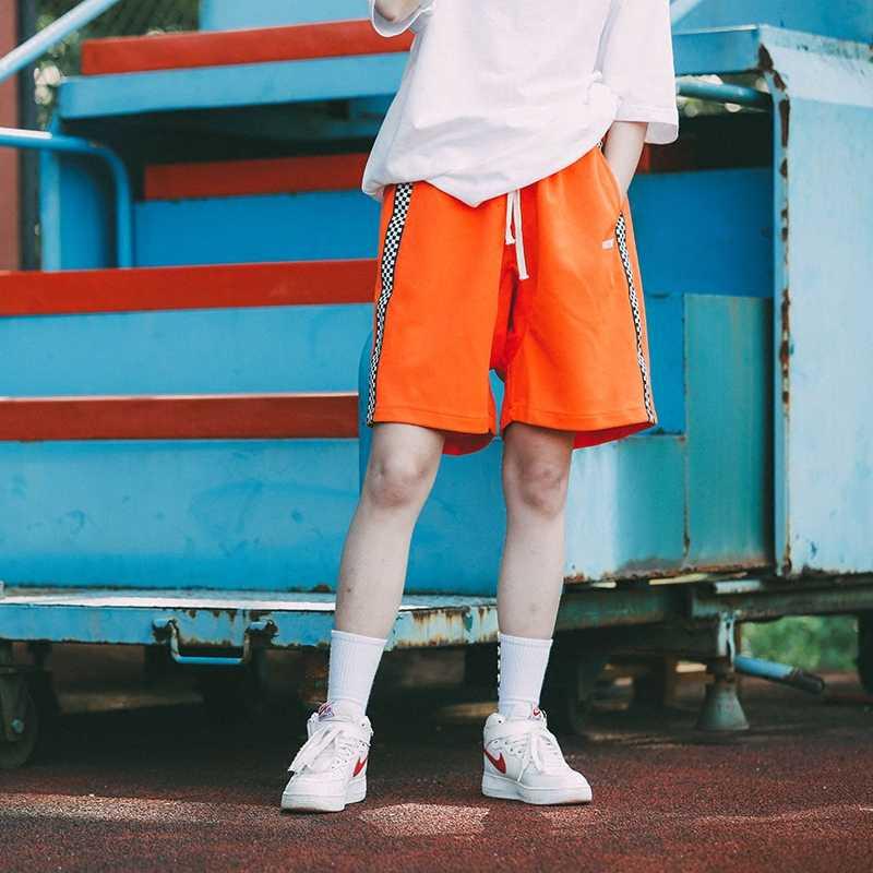 HFNF мужские повседневные шорты с полосками сбоку, шорты с отстрочкой 2019 летние хлопковые мужские повседневные шорты