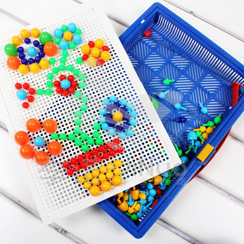 Creative-Peg-Board-with-296-Pegs-Model-Building-Kits-Building-Toy-Intelligence-for-kids-Random-Color-ZJF-3