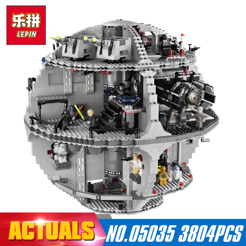 Star 3804Pcs Lepin 05035 Wars Death Bricks Star Model Educational Toys for Children Gift Building Blocks Bricks LegoINGlys 10188 lepin 05035 star wars death star limited edition model building kit millenniums blocks puzzle compatible legoed 75159