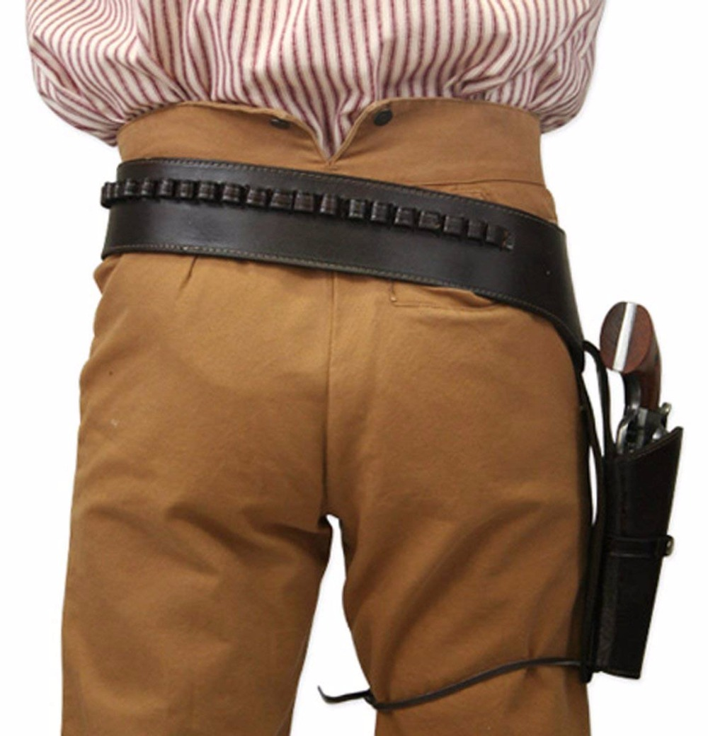 US $90 99 |Men's Right Hand Plain Leather Western Gun Belt Holster  44/ 45  cal -in Hunting Gun Accessories from Sports & Entertainment on