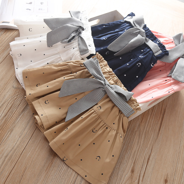 New Summer Girl Ruffled Shorts - Bowknot