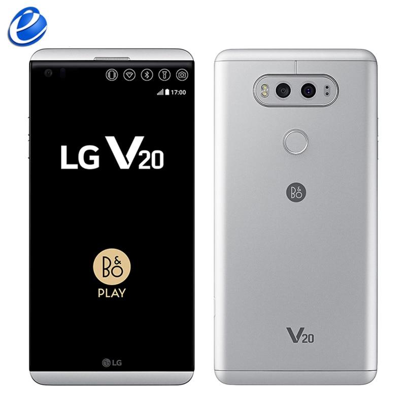 US $125 4 56% OFF Original Unlocked LG V20 H990 F800 H910 mobile phone 4GB  RAM 64GB ROM Quad Core 5 7'' 16MP+8MP Fingerprint 4G LTE Smart Phone-in