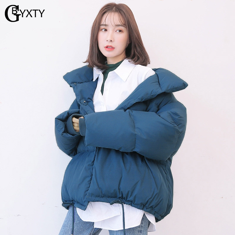 GBYXTY Oversize Down Jacket 2018 Winter Women Warm Turtleneck Goose Down Jacket and Coat Feather Puffer