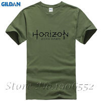 Men S Game Horizon Zero Dawn Printed T Shirt 2017 Summer 100 Cotton Breathable Tshirt Homme