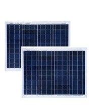 Placa Solar 12v 50w 2 PCs Panels 100w 24v Charger Battery Campervan Autocaravana Caravan  Car Camping Boat Ship LED