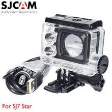 Оригинальный SJCAM SJ7 звезда мотоцикл Водонепроницаемый случае Корпус с сенсорным Backdoor и USB кабель для SJ Cam 7 4 К спорт действий Камера