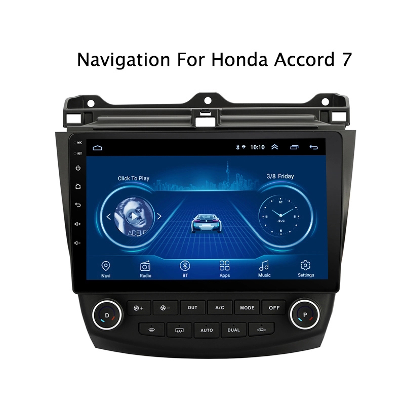 Super Slim Touch Screen Android 9.1 radio GPS Navigation for <font><b>Honda</b></font> <font><b>Accord</b></font> 7 <font><b>2003</b></font> 2005 2007 tablets <font><b>Stereo</b></font> Multimedia Bluetooth image