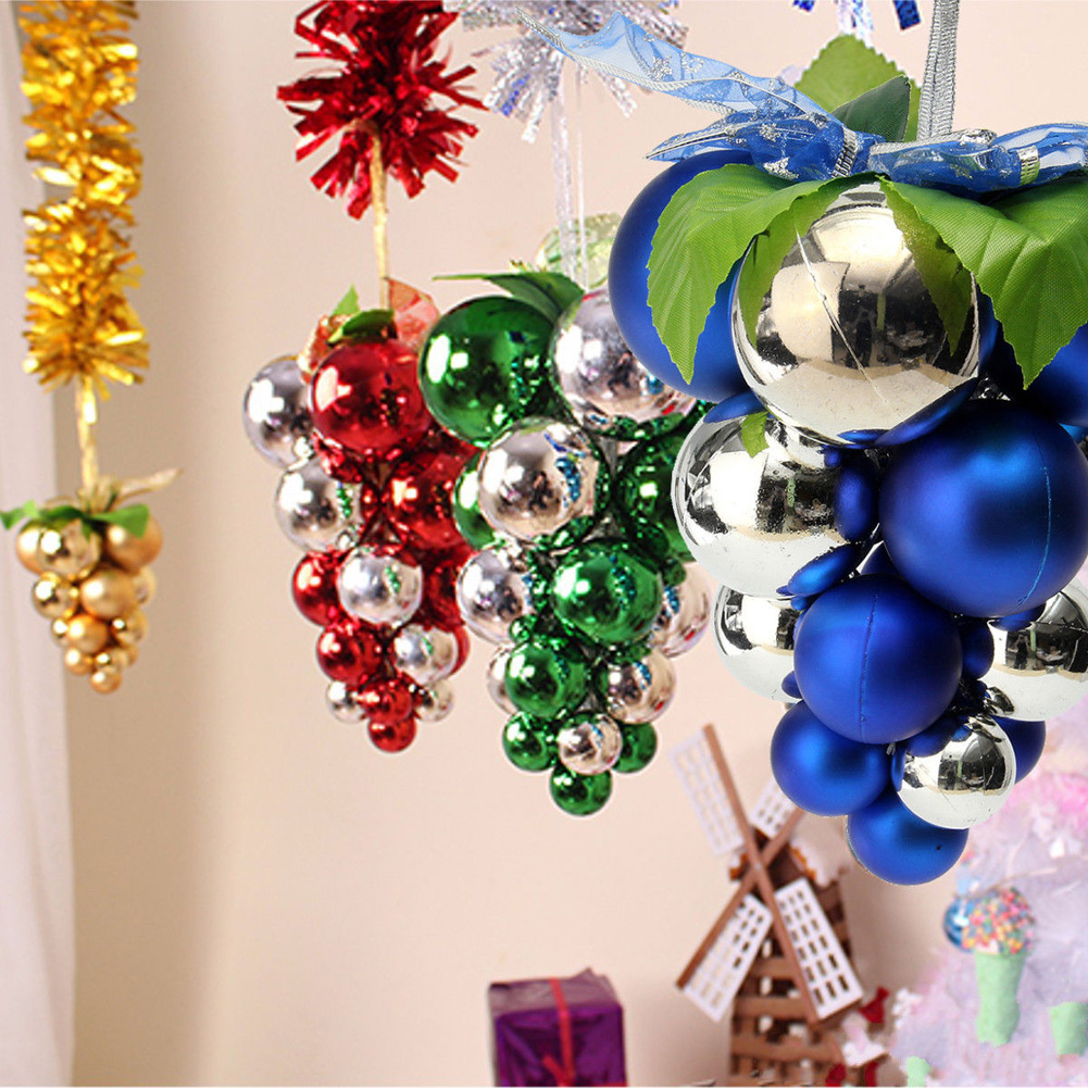 Christmas Grape String Balls Baubles Hanging Ornament Xmas Party Home Decoration Ball Ornaments Aliexpress
