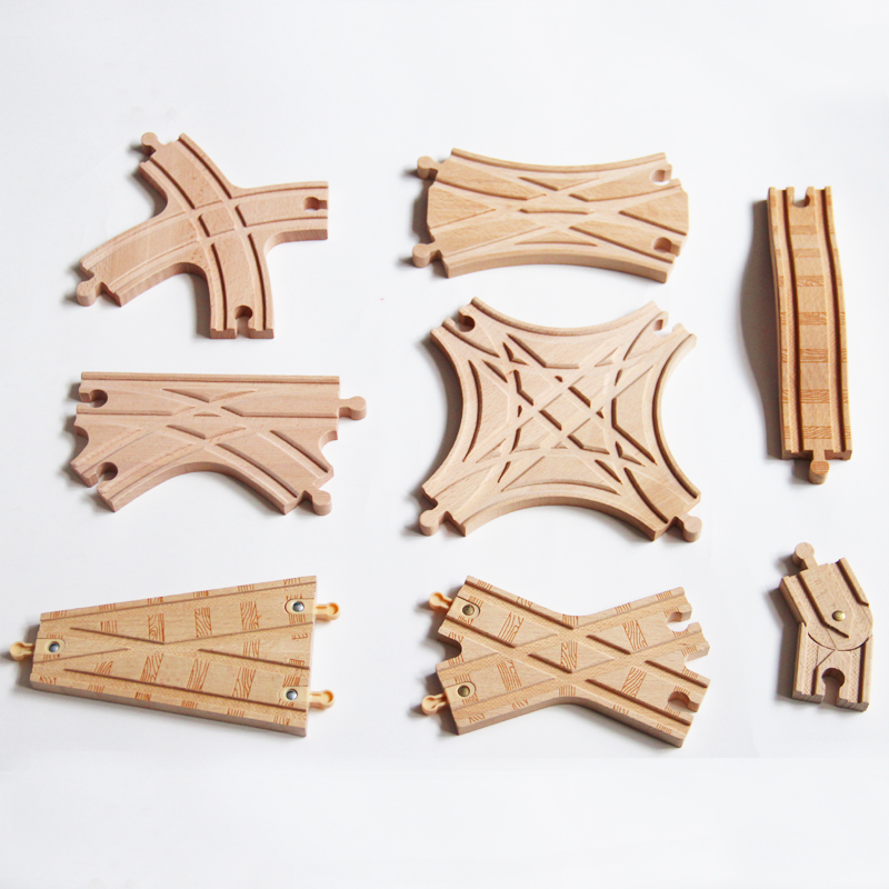 Special Track Wooden Train Tracks Fit For Brio Wooden Toy Magnetic Trains Boy / Kids Toy Christmas Gift