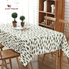 SlowDream Nordic Style Christmas Tree Table Cloth Home Office Travel Fashion Cover 5 Sizes Hot Toalha De Mesa