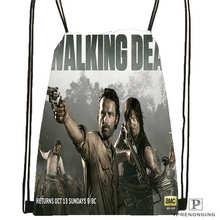 Custom Daryl-Dixon-The-Walking-Dead@02- Drawstring Backpack Bag Cute Daypack Kids Satchel (Black Back) 31x40cm#180611-01-41