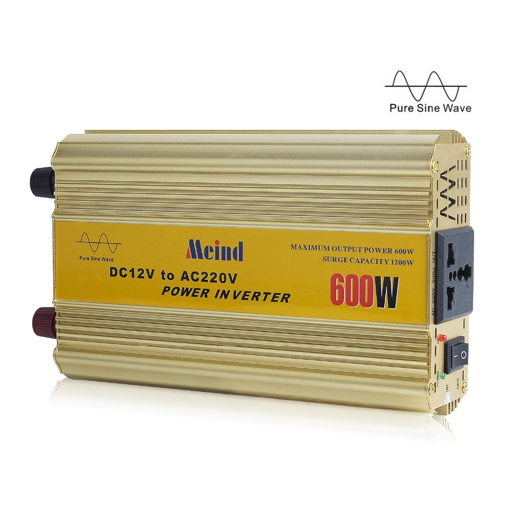 Meind  Sufficient 600w Pure Sine Wave 12v Dc To 220v Ac