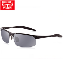 TRIUMPH VISION Aluminum Magnesium Polarized Sunglasses Men Sport Driver Sun Glasses For Men Driving UV400 Fishing Eyewear Male