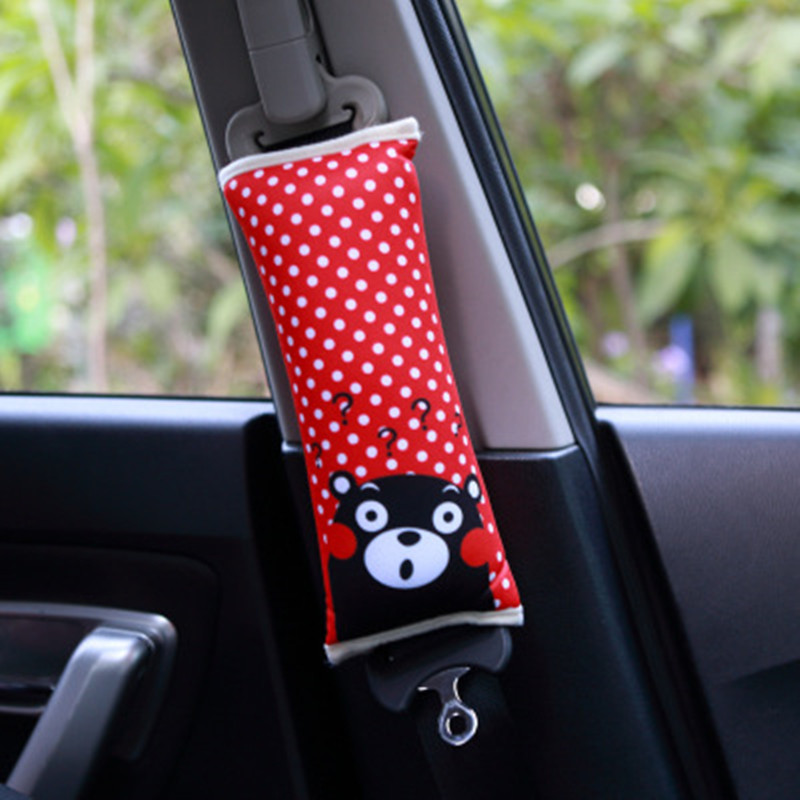 Baby Safety Car Seat Belt Pads Monkey Tiger Dog Pattern Cotton Seat Belt Cover Pad PP Cotton Filling Protect Shoulder One Piece