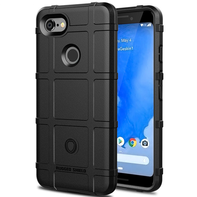 Soft Silicone Armor Bumper Back Cover For Google Pixel 3
