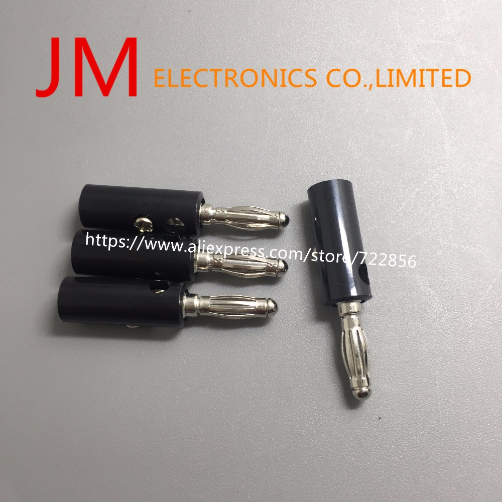 10pcs/lot Black Red Wire Audio Speaker Cable Banana Plug Connectors ...