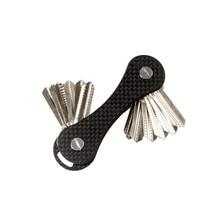 QingGear Keybone Carbon Fiber Hand Tool Special Key Fan Bar Outdoor Travel Kits door Key Organizer Holder EDC Tool novel gift