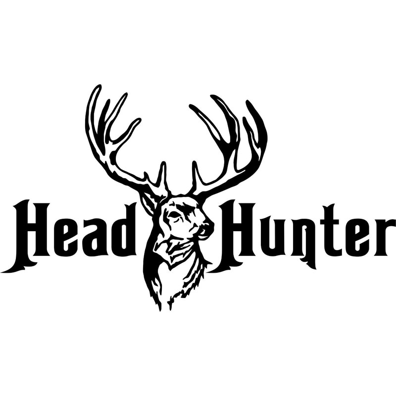 16CM*9.3CM Whitetail Deer Head Hunter Hunting Gun Bow Car Stickers and Decals Cartoon Auto Sticker for Car Styling C8-0394 ...