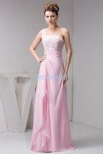 цены на free shipping 2014 new design floor length beading brides maid pink tarik ediz one shoulder long dress formal Bridesmaid Dresses  в интернет-магазинах