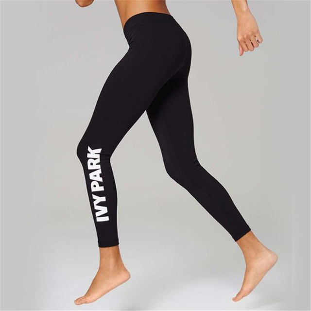05266397b0a37 Causal Just Do It Women s Leggings Black Cotton Print Letter Workout Pants  Slim Jeggings Ladieswear Fitness