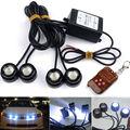 Горячая Продажа! супер яркий 4x3 Вт Стробоскоп Флэш Орлиный Глаз Светодиодов автомобиль Свет с Беспроводной Пульт Дистанционного водонепроницаемый DRL сигнальная лампа лампы белый