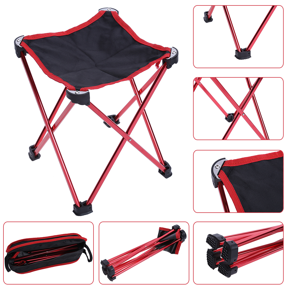 Waterproof Folding Fishing Chair Four legged Triangular