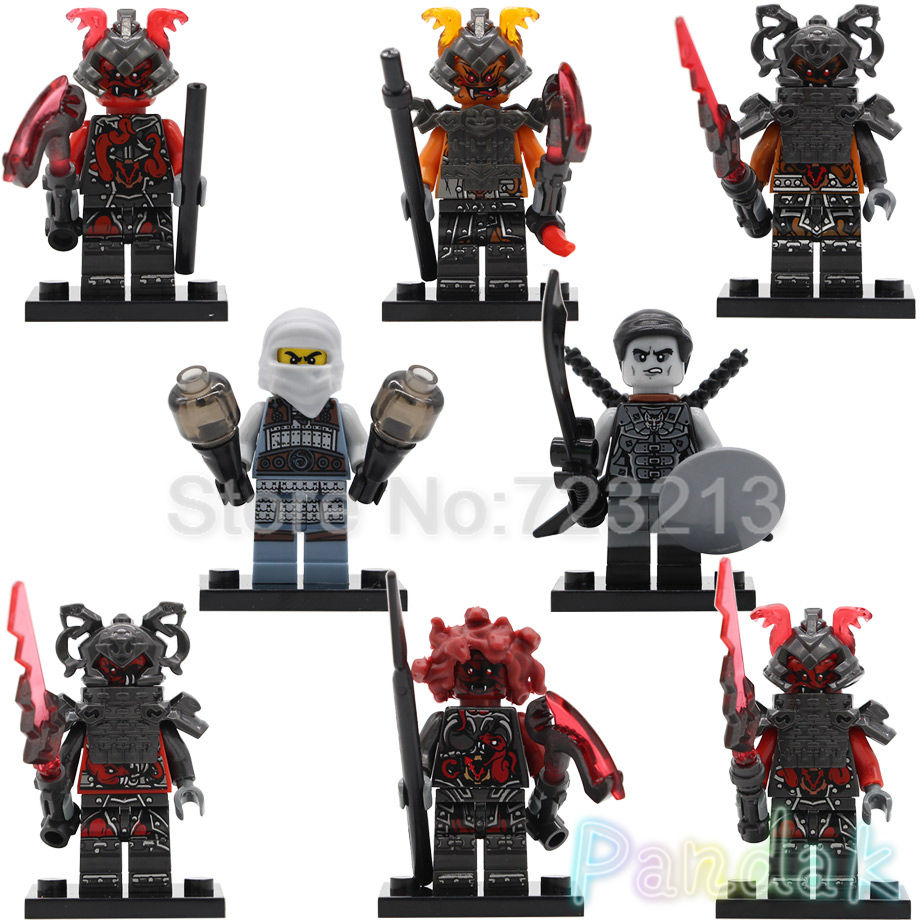Blocks Toys & Hobbies Single New Ninja Movie Nya Sensei Wu Flashback Garmadon N-pop Girl Shark Army Angler Building Blocks Bricks Toys For Children