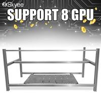 S SKYEE Open Air Mining Rig Non Stackable Frame Case For 8 GPU ETH BTC Ethereum
