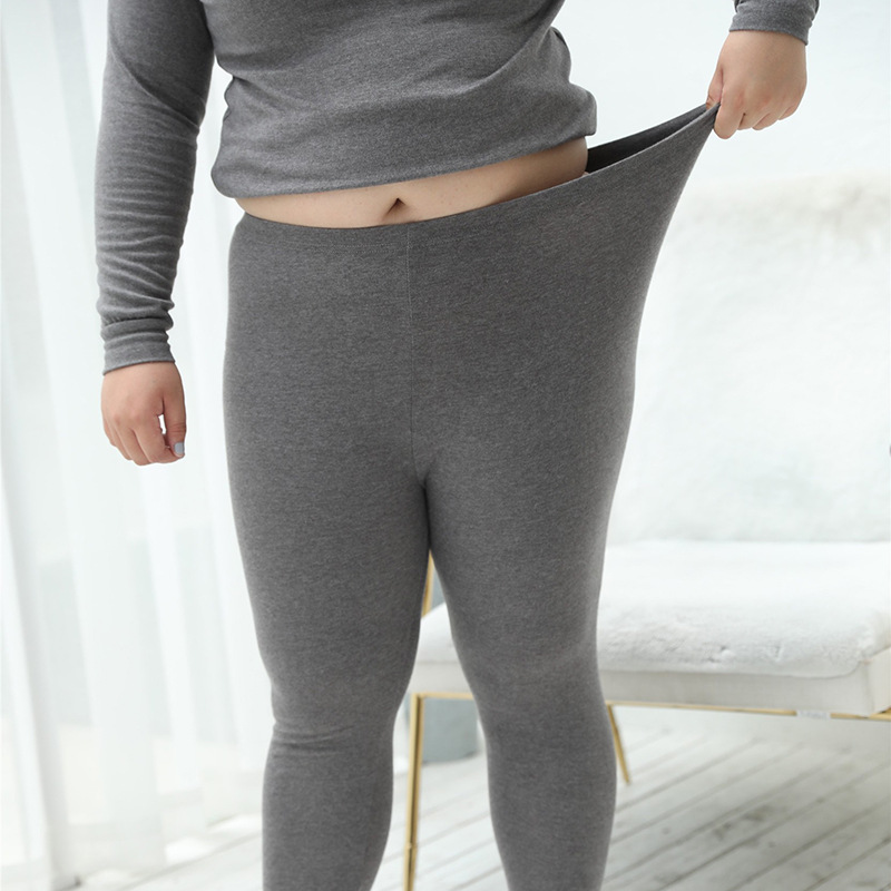 5b9e320993e UIECOE Plus Size Thermal Underwear for Women Cotton Long Johns Set Ultra  Soft Base Layer Top   Bottom 2 Piece Set 3XL 7XL-in Long Johns from  Underwear ...