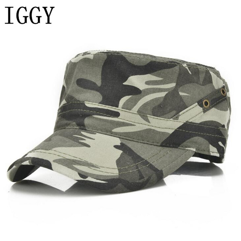 31b43b1b8e7 Men Baseball Caps Black Army Green Camouflage Flat Top Hats Cotton Snapback  Flat Cap Army Cadet Hat Women Gorros Hombre Hip Hop-in Baseball Caps from  Men s ...