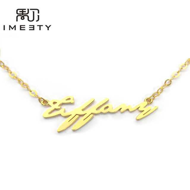 16b65c2d910443 IMEETY my name necklace customized classic name necklace design personalized  script nameplate necklace christmas gift