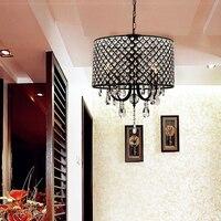 YWXLight Moderna Lâmpada de Cristal de Luz Pingente de metal Pendurado E14 AC 220 V Interior Restaurante Bar Sala de estar Quarto LEVOU Lâmpada|Luzes de pendentes| |  -