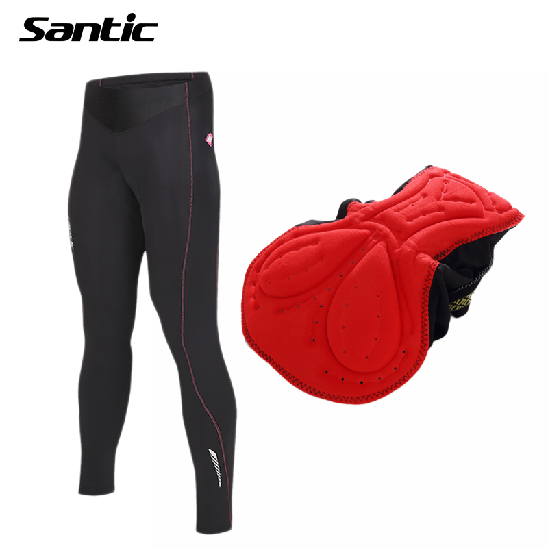 Santic Women Cycling Pants Quick Dry Breathable Padded Downhill MTB Road Bike Pants Long Bicycle Trousers Tights Spring Summer aetoo retro shoulder bag genuine handmade men women casual travel backpack large capacity first layer leather