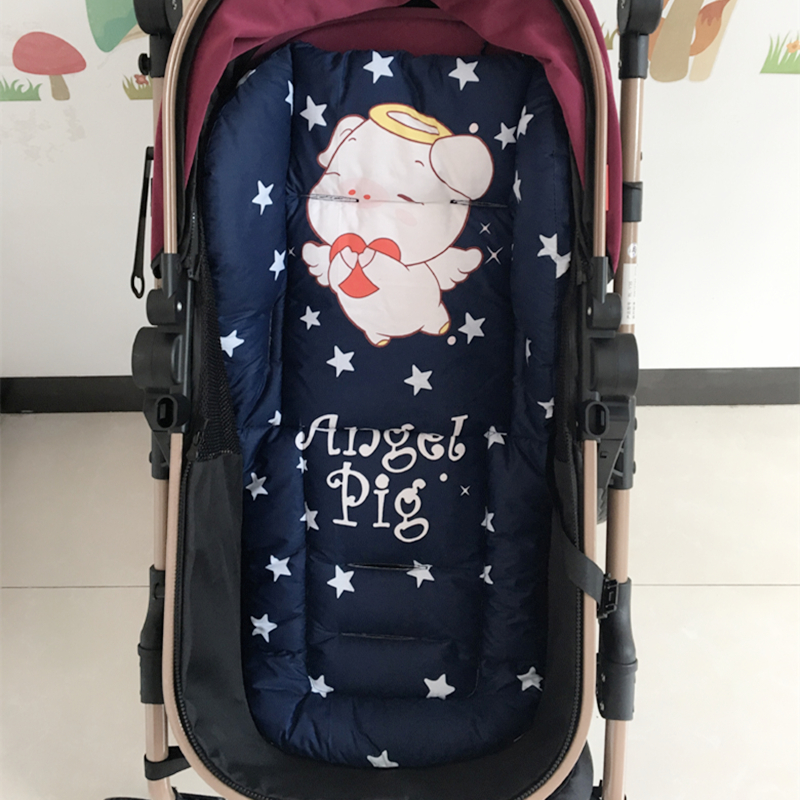 Cotton Baby Stroller Cushion For Prams Baby Carriage Seat Cover Pushchair Mat Padding Liner Cart Seat Mattress Baby Diaper Pad
