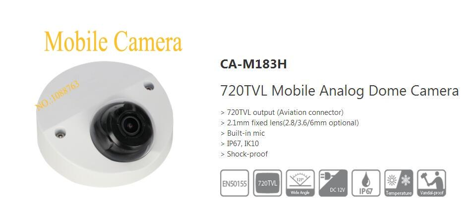 Free Shipping DAHUA Security Shock-proof Camera 720TVL Mobile Analog Dome Camera IP67 IK10 Without Logo CA-M183H