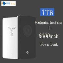 """HDD 2,"""" внешний жесткий диск Тип usb-C 3,0 500 ГБ 1 ТБ 2 ТБ с 8000 мАч банк питания для мобильных устройств диск твердотельный накопитель"""