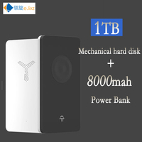 HDD 2.5 External Hard Drive USB Type C 3.0 500GB 1TB 2TB with 8000mah mobile power bank Disk Disc Solid State