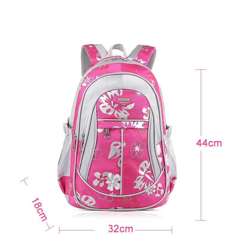 2018 Autumn Orthopedic Backpack Children Schoolbags for Girls Primary Grades 4 6 School Book Bag Children Print School Bags in School Bags from Luggage Bags