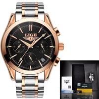 Mens Watches Top Brand Luxury LIGE Sport Wrist Watches Male Waterproof Business Clock Man Quartz Military