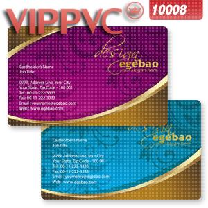 Pvc white plastic   0.38mm full color Double faced printing good quality business card a1008